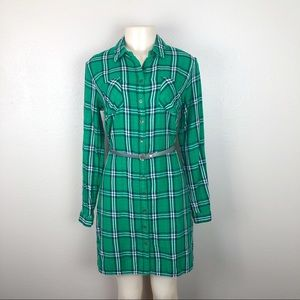 MERONA PLAID SHIRT DRESS